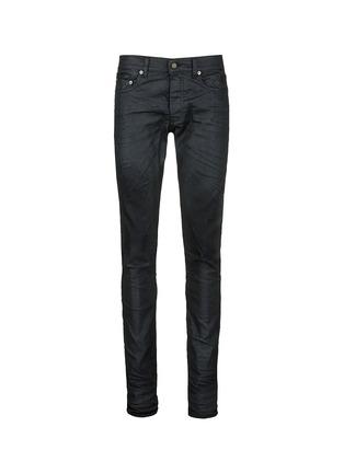 Main View - Click To Enlarge - SAINT LAURENT - Slim fit coated stretch denim jeans