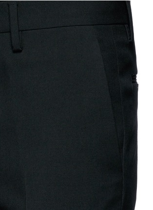 Detail View - Click To Enlarge - SAINT LAURENT - Slim fit wool gabardine pants