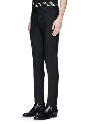Front View - Click To Enlarge - SAINT LAURENT - Slim fit wool gabardine pants