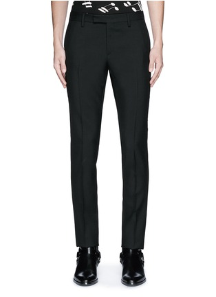 Main View - Click To Enlarge - SAINT LAURENT - Slim fit wool gabardine pants