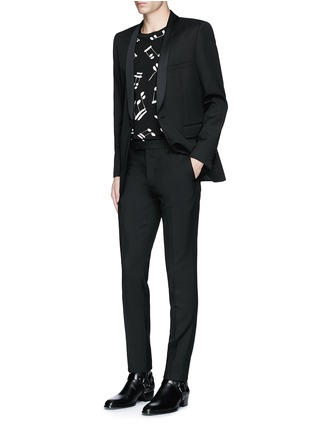 Figure View - Click To Enlarge - SAINT LAURENT - Slim fit wool gabardine pants