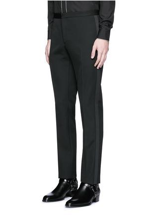 Detail View - Click To Enlarge - SAINT LAURENT - Satin shawl lapel wool tuxedo suit