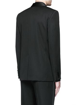Back View - Click To Enlarge - SAINT LAURENT - Satin shawl lapel wool tuxedo suit