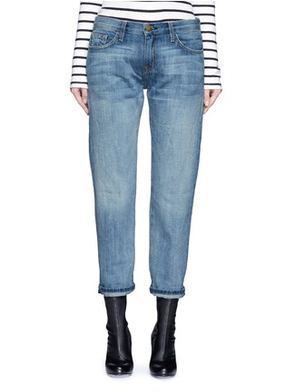 Detail View - Click To Enlarge - Current/Elliott - 'The Boyfriend' straight leg cropped jeans