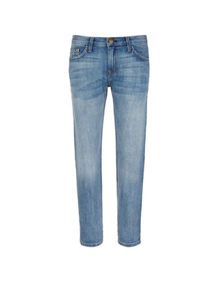 Main View - Click To Enlarge - Current/Elliott - 'The Boyfriend' straight leg cropped jeans