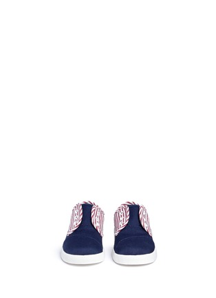 Figure View - Click To Enlarge - 90175 - Tiny Paseo flag print canvas toddler slip-ons