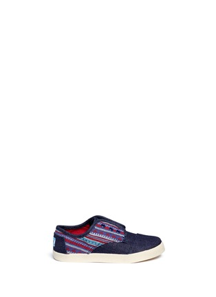 Main View - Click To Enlarge - 90175 - Tiny Paseo geometric contrast denim toddler slip-ons
