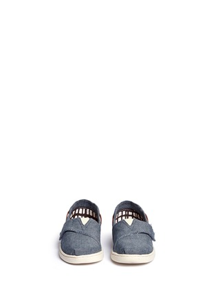 Figure View - Click To Enlarge - 90175 - Tiny Bimini chambray toddler slip-ons