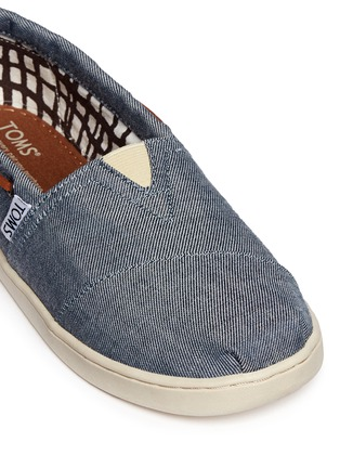 Detail View - Click To Enlarge - 90175 - Youth Bimini chambray kids slip-ons