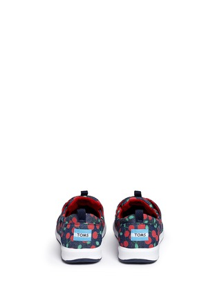Back View - Click To Enlarge - 90175 - Youth Del Rey cherry print denim kid sneakers