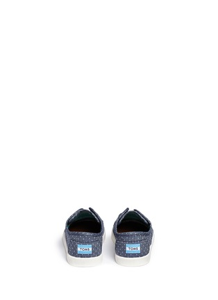Back View - Click To Enlarge -  - Tiny Paseo dot print chambray toddler slip-ons