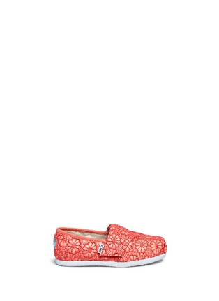 Main View - Click To Enlarge - 90175 - Tiny Classic glitter crochet toddler slip-ons