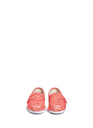 Figure View - Click To Enlarge - 90175 - Tiny Classic glitter crochet toddler slip-ons