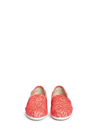 Figure View - Click To Enlarge -  - Youth Classic glitter crochet kids slip-ons