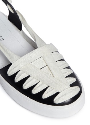 Detail View - Click To Enlarge - 10 Crosby Derek Lam - 'Leon' strappy ribbon ankle tie leather flats