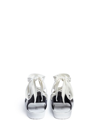 Back View - Click To Enlarge - 10 Crosby Derek Lam - 'Leon' strappy ribbon ankle tie leather flats