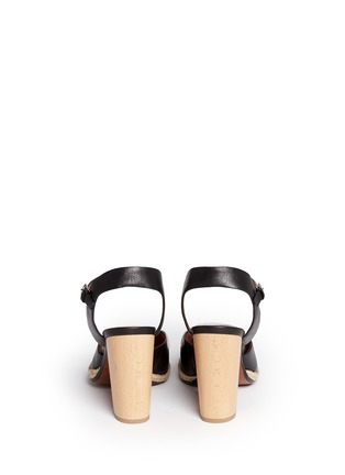 Back View - Click To Enlarge - 10 Crosby Derek Lam - 'Sasha' strappy ribbon leather espadrille sandals