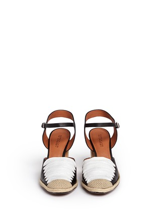 Front View - Click To Enlarge - 10 Crosby Derek Lam - 'Sasha' strappy ribbon leather espadrille sandals