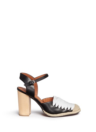 Main View - Click To Enlarge - 10 Crosby Derek Lam - 'Sasha' strappy ribbon leather espadrille sandals