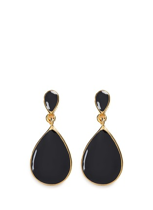 Main View - Click To Enlarge - Kenneth Jay Lane - Enamel teardrop metal frame drop earrings