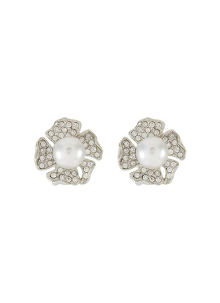 Main View - Click To Enlarge - KENNETH JAY LANE - Crystal pavé flower stud earrings