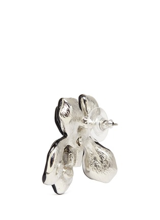 Detail View - Click To Enlarge - Kenneth Jay Lane - Crystal pavé floral iris stud earrings