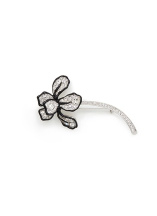 Main View - Click To Enlarge - Kenneth Jay Lane - Crystal pavé flower brooch