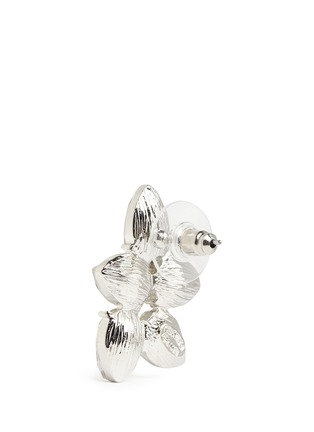 Detail View - Click To Enlarge - Kenneth Jay Lane - Teardrop crystal cluster stud earrings