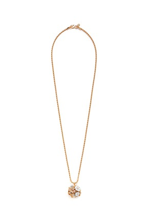 Main View - Click To Enlarge - Kenneth Jay Lane - Crystal pavé flower bug pendant necklace