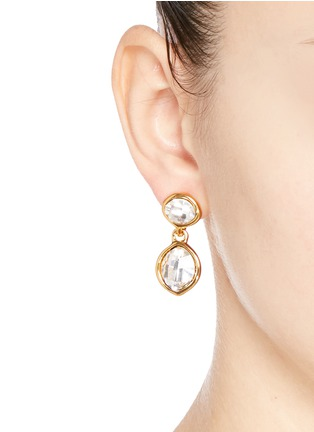 Figure View - Click To Enlarge - Kenneth Jay Lane - Faceted crystal drop earrings