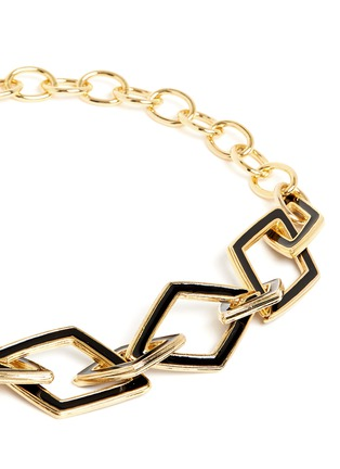 Detail View - Click To Enlarge - Kenneth Jay Lane - Rhombus link chain necklace