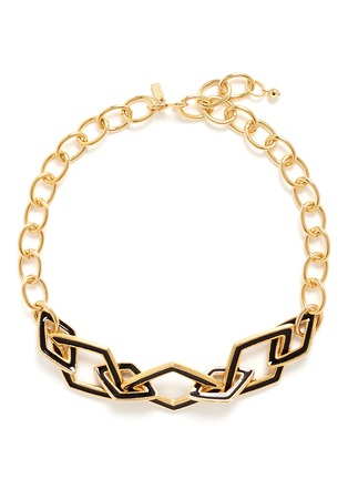 Main View - Click To Enlarge - KENNETH JAY LANE - Rhombus link chain necklace