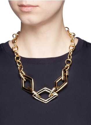 Figure View - Click To Enlarge - KENNETH JAY LANE - Rhombus link chain necklace