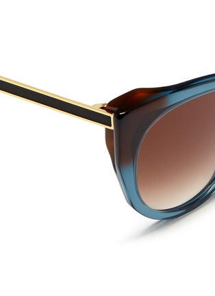 Detail View - Click To Enlarge - Thierry Lasry - 'Bunny' matte temple acetate cat eye sunglasses