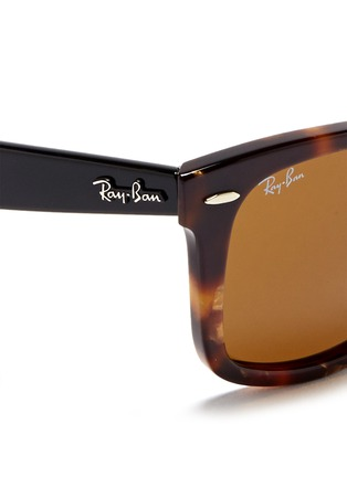 Detail View - Click To Enlarge - Ray-Ban - 'Original Wayfarer' contrast temple acetate sunglasses