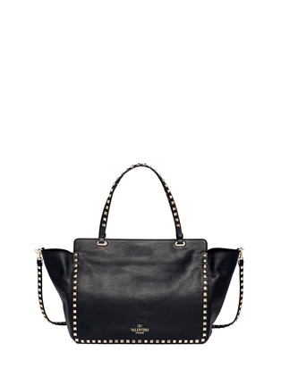 Detail View - Click To Enlarge - VALENTINO - 'Rockstud' medium leather tote