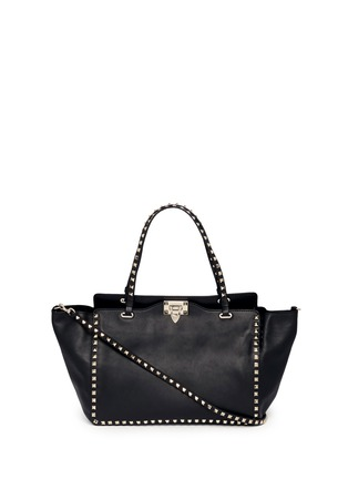 Main View - Click To Enlarge - VALENTINO - 'Rockstud' medium leather tote