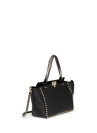 Figure View - Click To Enlarge - VALENTINO - 'Rockstud' medium leather tote