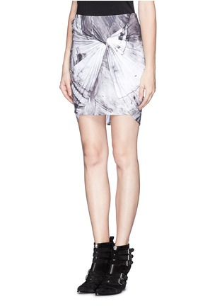 Front View - Click To Enlarge - HELMUT LANG - Twist front jersey skirt