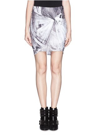 Main View - Click To Enlarge - HELMUT LANG - Twist front jersey skirt