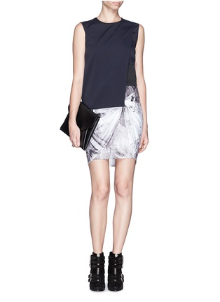Figure View - Click To Enlarge - HELMUT LANG - Twist front jersey skirt