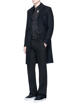Figure View - Click To Enlarge - GIVENCHY - Studded leather panel padded blouson jacket