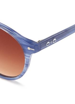 Detail View - Click To Enlarge - Sons+Daughters Eyewear - 'Clark' kids keyhole bridge stripe acetate sunglasses