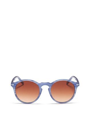 Main View - Click To Enlarge - Sons+Daughters Eyewear - 'Clark' kids keyhole bridge stripe acetate sunglasses