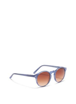 Figure View - Click To Enlarge - Sons+Daughters Eyewear - 'Clark' kids keyhole bridge stripe acetate sunglasses