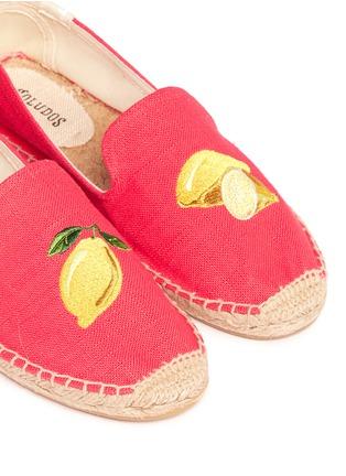 Detail View - Click To Enlarge - Soludos - x Jason Palon 'Lemons' embroidery linen espadrilles
