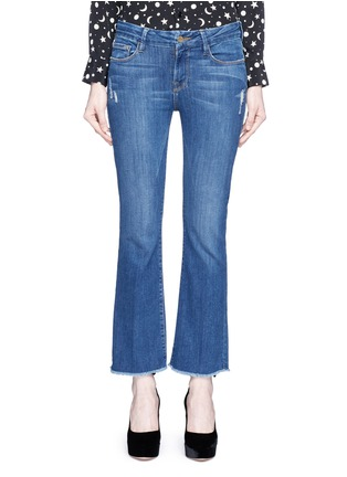 Detail View - Click To Enlarge - FRAME DENIM - 'Le Crop Mini Boot' cropped flare jeans