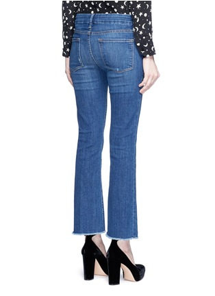 Back View - Click To Enlarge - FRAME DENIM - 'Le Crop Mini Boot' cropped flare jeans