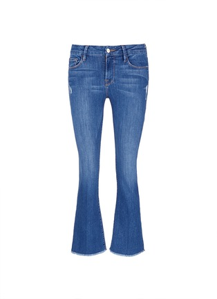 Main View - Click To Enlarge - FRAME DENIM - 'Le Crop Mini Boot' cropped flare jeans