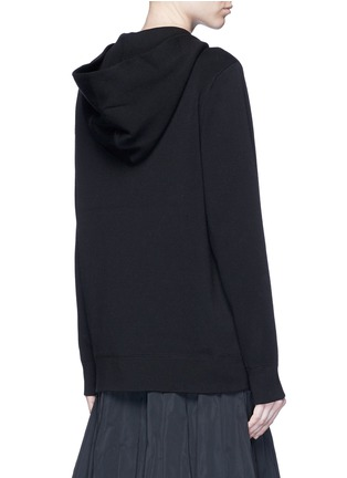 Back View - Click To Enlarge - Marc Jacobs - Jewel embellished zip-up knit hoodie